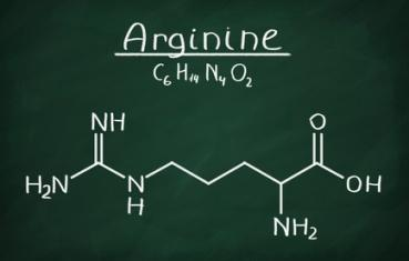 chemical formula of arginine, an amino acid