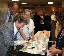 Aletha Tippett demonstrating Maggot Therapy