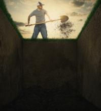 digging a grave site